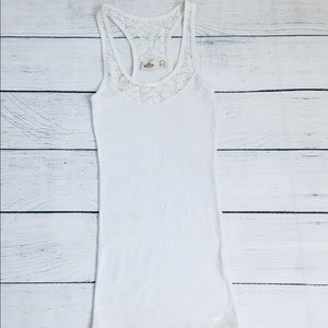 Hollister  lace detail white Tank Top S
